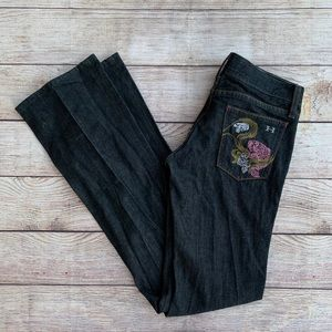 Habitual Midnight Bootcut Embroidered Jeans